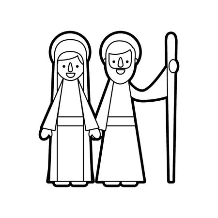 nativity the virgin mary and joseph blessed