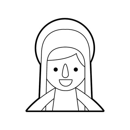 Bonjour sainte vierge marie célébration de noël icône illustration vectorielle Banque d'images - 88096069
