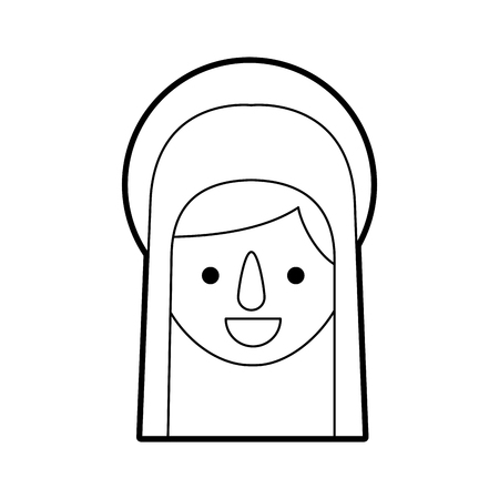 blessed holy virgin mary christmas celebration icon vector illustration Stock Vector - 88096067