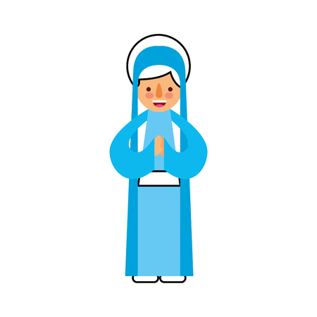 blessed holy virgin mary christmas celebration icon vector illustration Stock Vector - 88084668