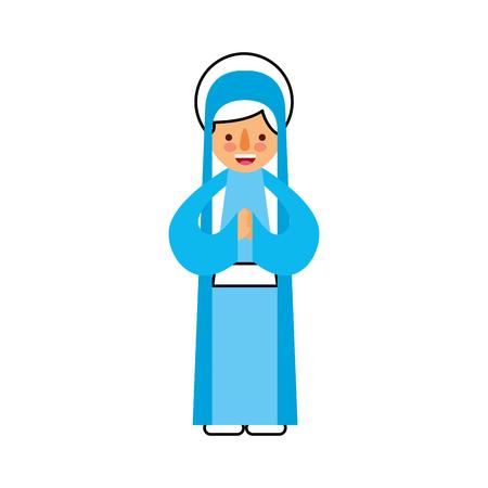 Bonjour sainte vierge marie célébration de noël icône illustration vectorielle Banque d'images - 88084668