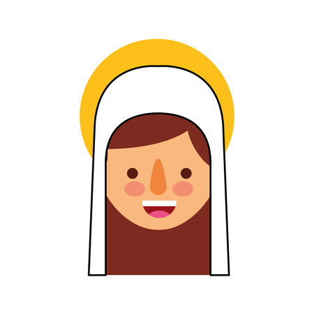 神聖な聖母マリアを賛美クリスマスお祝いアイコン ベクトル イラスト  イラスト・ベクター素材