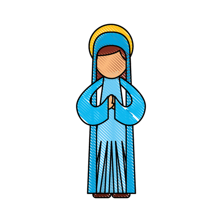 blessed holy virgin mary christmas celebration icon vector illustration Stock Vector - 88084719