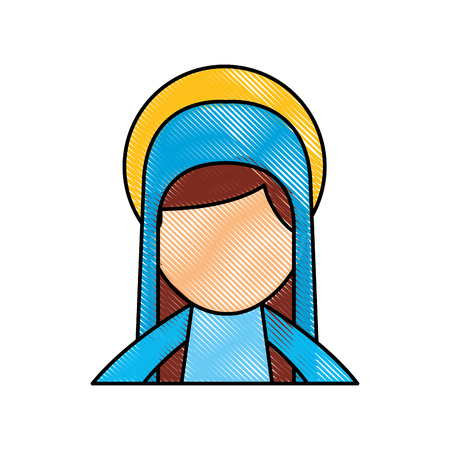 축복받은 거룩한 처녀 메리 크리스마스 축하 아이콘 벡터 일러스트 레이션 스톡 콘텐츠 - 88084722
