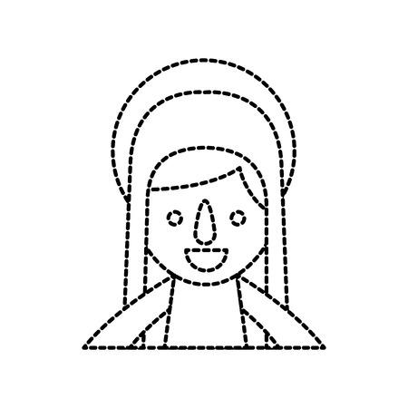 blessed holy virgin mary christmas celebration icon vector illustration Banco de Imagens - 88088766