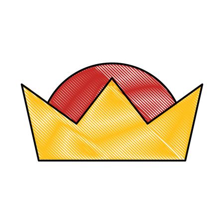 王冠賢明な王の華やかな宝石イメージ ベクトル イラスト  イラスト・ベクター素材