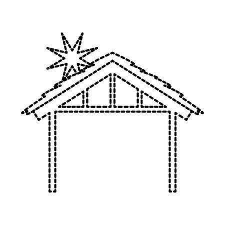 목조 오두막 집사 디자인 이미지 벡터 일러스트 레이션
