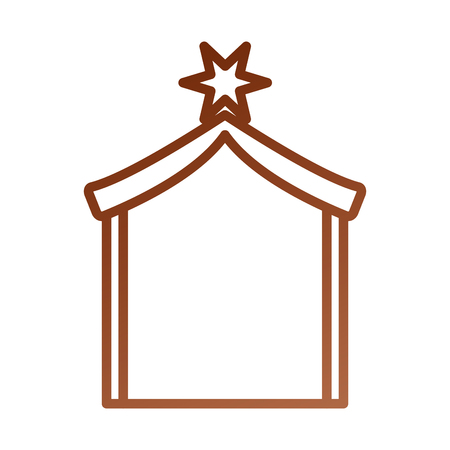 A wooden house manger design image vector illustration