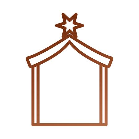 Une maison en bois manger design image vectorielle illustration Banque d'images - 88085156