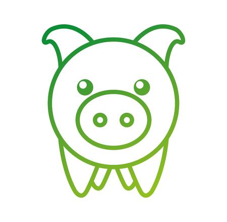 piggy bank saving money cash invest concept vector illustration
