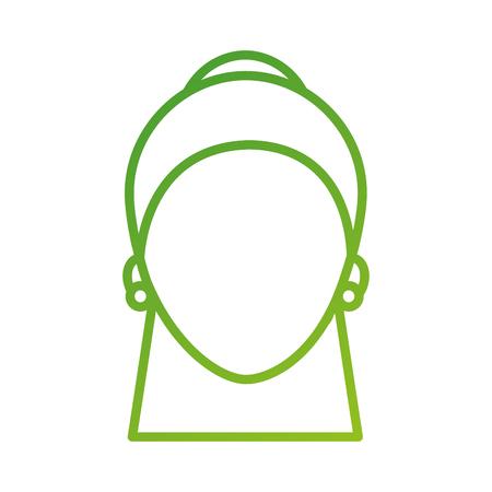 女性顔文字ピアスや髪型ベクトル イラスト  イラスト・ベクター素材