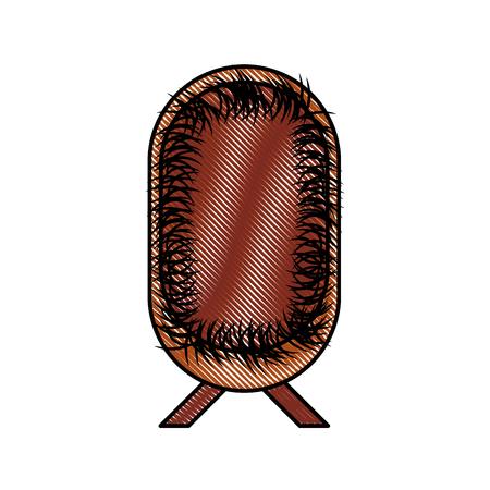 Illustrazione di vettore dell'icona dell'elemento di christianity della mangiatoia della culla della paglia Archivio Fotografico - 88088814