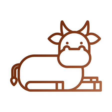 christmas cow animal of manger cartoon vector illustration Stock Vector - 88089104