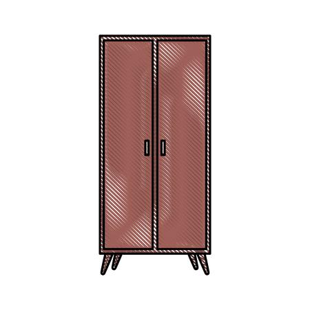Illustrazione vettoriale icona di mobili in legno di decorazione di armadio in legno Archivio Fotografico - 88090437
