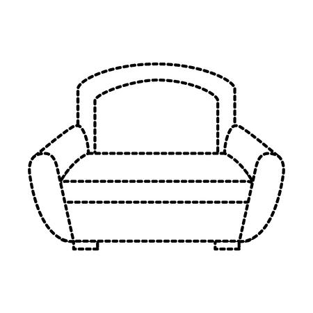 ソファ家具ホーム装飾快適要素ベクトルイラスト  イラスト・ベクター素材