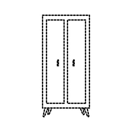 houten kledingkast meubels huisdecoratie pictogram vectorillustratie