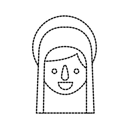 Bonjour sainte vierge marie célébration de noël icône illustration vectorielle Banque d'images - 88090468