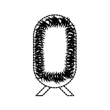 straw cradle manger christendom element pictogram vector illustratie