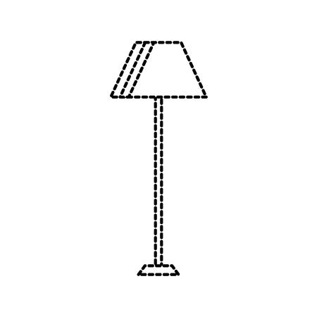 floor lamp light electric furniture decoration vector illustration