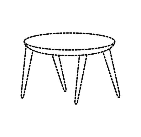 목조 원형 테이블 가구 장식 벡터 일러스트 레이션 스톡 콘텐츠 - 88090363