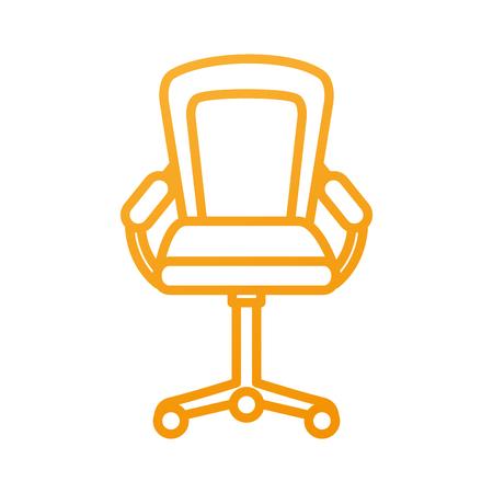 가구 안락 의자 사무실 휠 장비 벡터 일러스트 레이션 스톡 콘텐츠 - 88090479