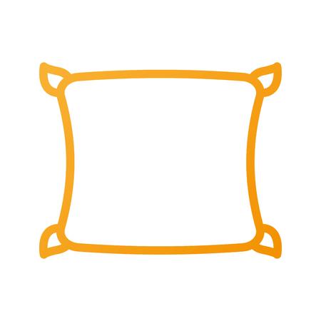 편안한 베개 쿠션 침실 천으로 벡터 일러스트 레이션 스톡 콘텐츠 - 88090511