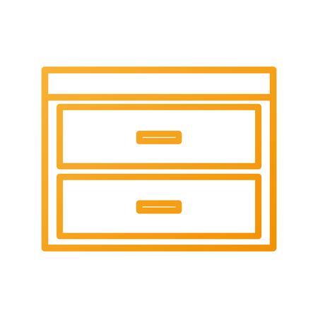 Commode de tiroirs meubles style moderne de vecteur de livre illustration Banque d'images - 88090512