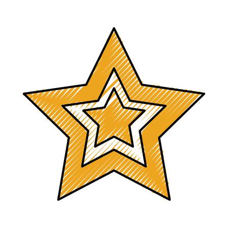 bauble star christmas new year decoration vector illustration Ilustrace