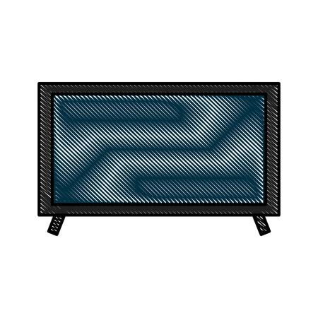 テレビ プラズマ技術デバイス オブジェクトのベクトル図