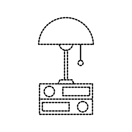 Lamp and folder elements