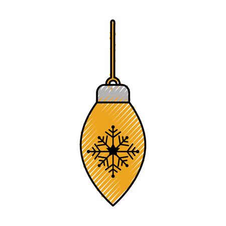 christmas ball hanging decoration ornament vector illustration