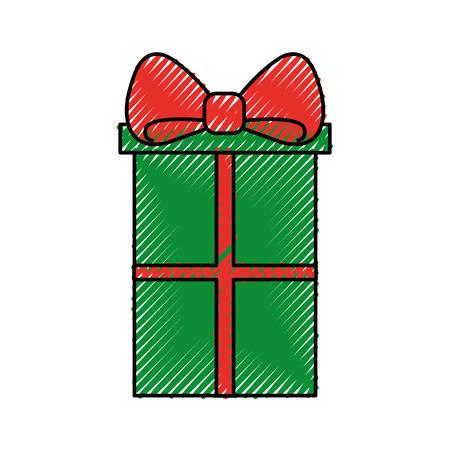 Christmas gift box Ilustração