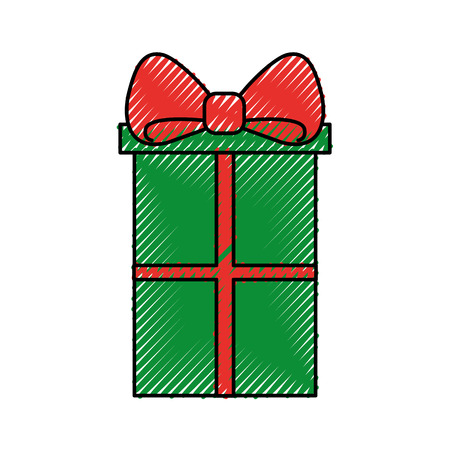Christmas gift box Illustration