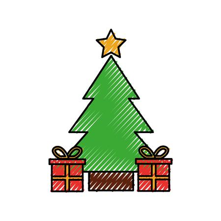 Christmas tree pine gift boxes