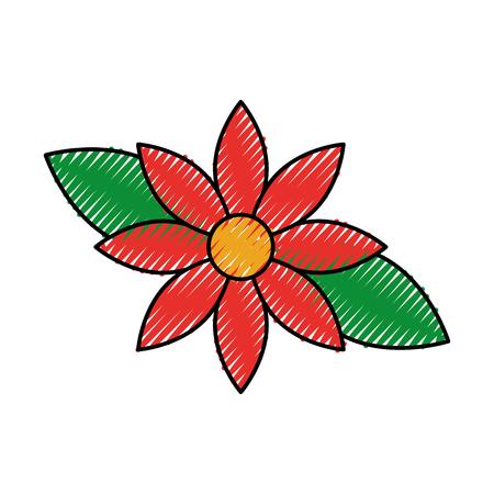 Christmas flower poinsettia decoration