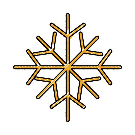 christmas snowflake winter decoration seasonal vector illustration