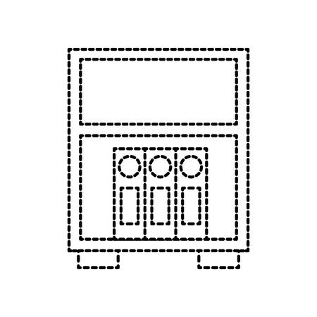 バインダー立ちベクトルイラストの図書館木製本棚  イラスト・ベクター素材