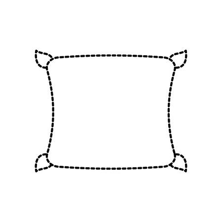 편안한 베개 쿠션 침실 천으로 벡터 일러스트 레이션 스톡 콘텐츠 - 88090578