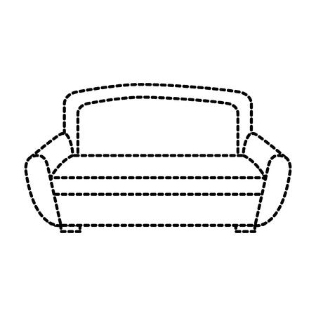 sofa furniture home decor comfort element vector illustration
