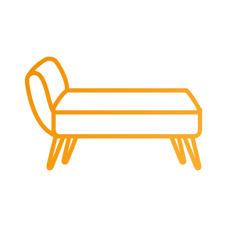 sofa divan or couch elegant furniture icon style interior vector illustration