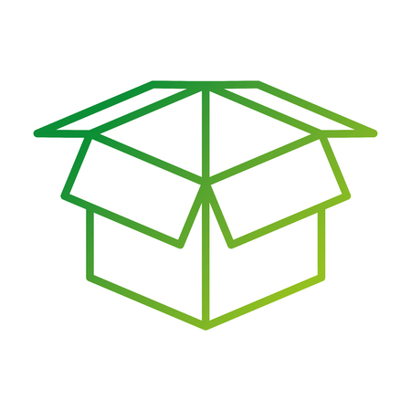 abrir caja de cartón concepto de seguridad icono ilustración vectorial