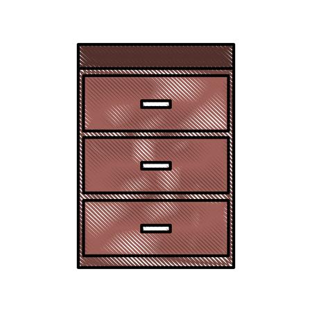 table drawer furniture interior decoration design element vector illustration Banco de Imagens - 88090469