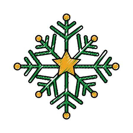 クリスマスの雪片冬の装飾季節のベクターイラスト  イラスト・ベクター素材