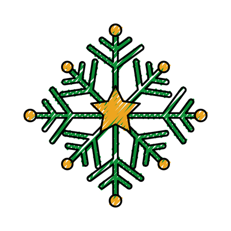 christmas snowflake winter decoration seasonal vector illustration