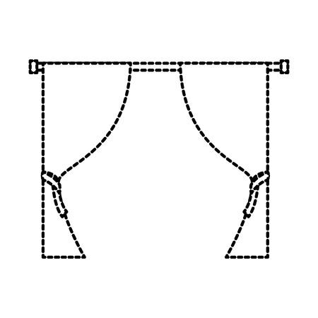 ウィンドウ装飾エレガントなベクター イラストをカーテンします。