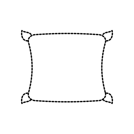 快適な枕クッションのベッドルームの布ベクトルイラスト