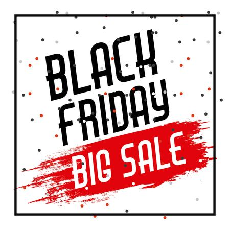 black friday sale banner element season discount vector illustration Illustration