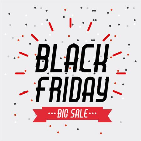 black friday sale banner element season discount vector illustration Ilustrace