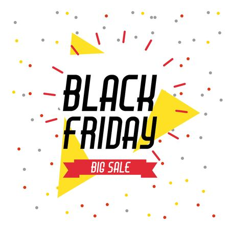 black friday sale banner element season discount vector illustration Reklamní fotografie - 88116238
