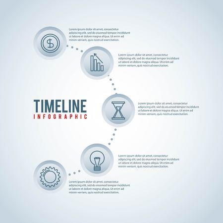timeline infographic business work idea financial money vector illustration Ilustrace